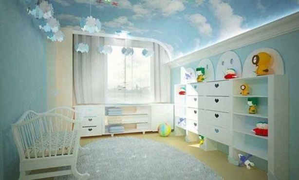 Натяжні стелі в дитячій кiмнатi 8