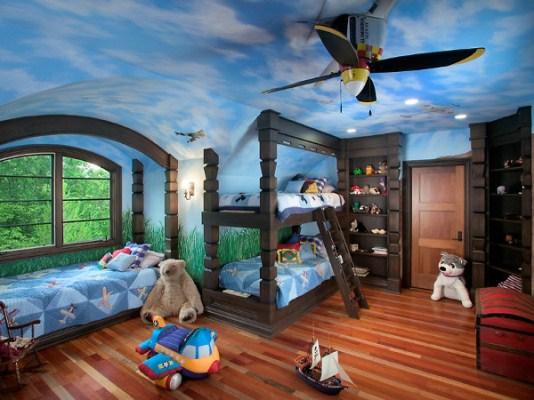 Натяжні стелі в дитячій кiмнатi 10
