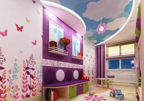 Натяжні стелі в дитячій кiмнатi 9
