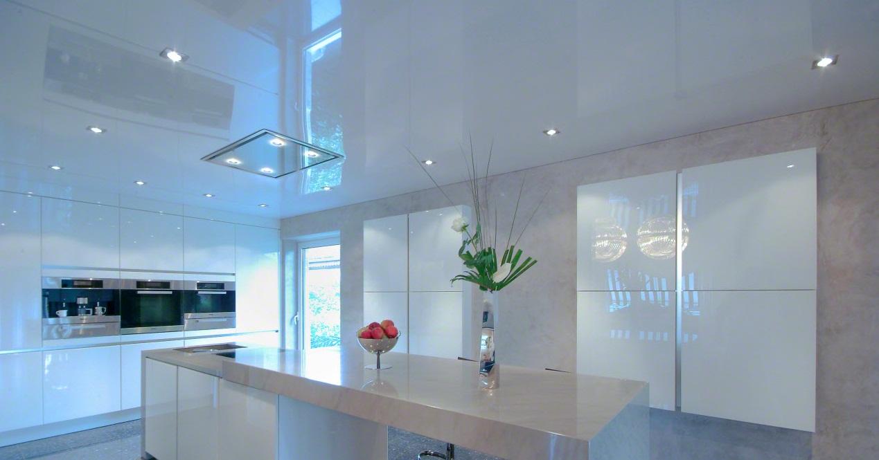 глянцевые натяжные системы для потолка
