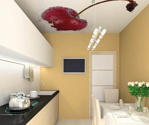 натяжные потолки на кухне в Киеве