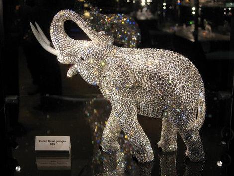 Кристаллы Сваровски фигурка слона