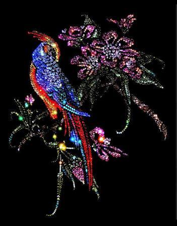 Кристаллы Сваровски птица