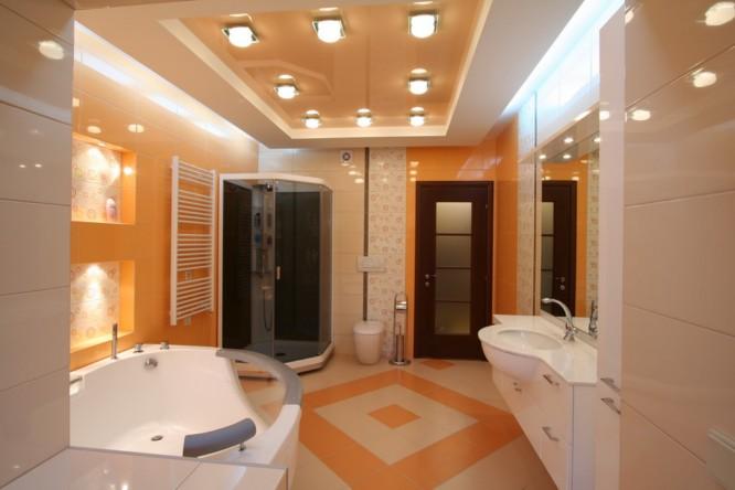 Натяжные потолки ванная душевая