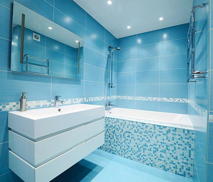 Натяжные потолки ванная