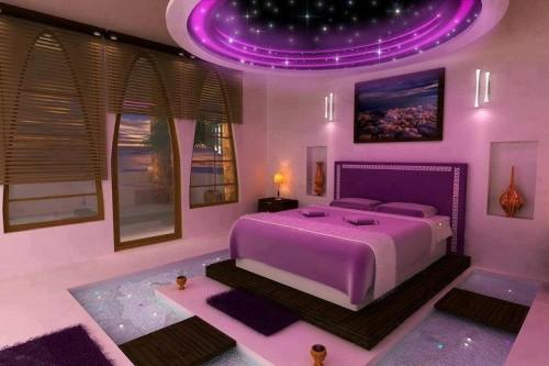 Натяжные потолки спальни